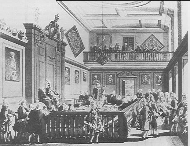 Court of Chivalry in session at the College of Arms