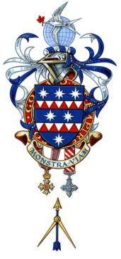 Arms, Crest and Badge granted to Douglas Frederick Harvey GROCOTT
