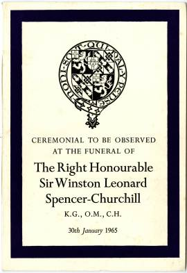 ceremonial for the funeral service of Winston Churchill