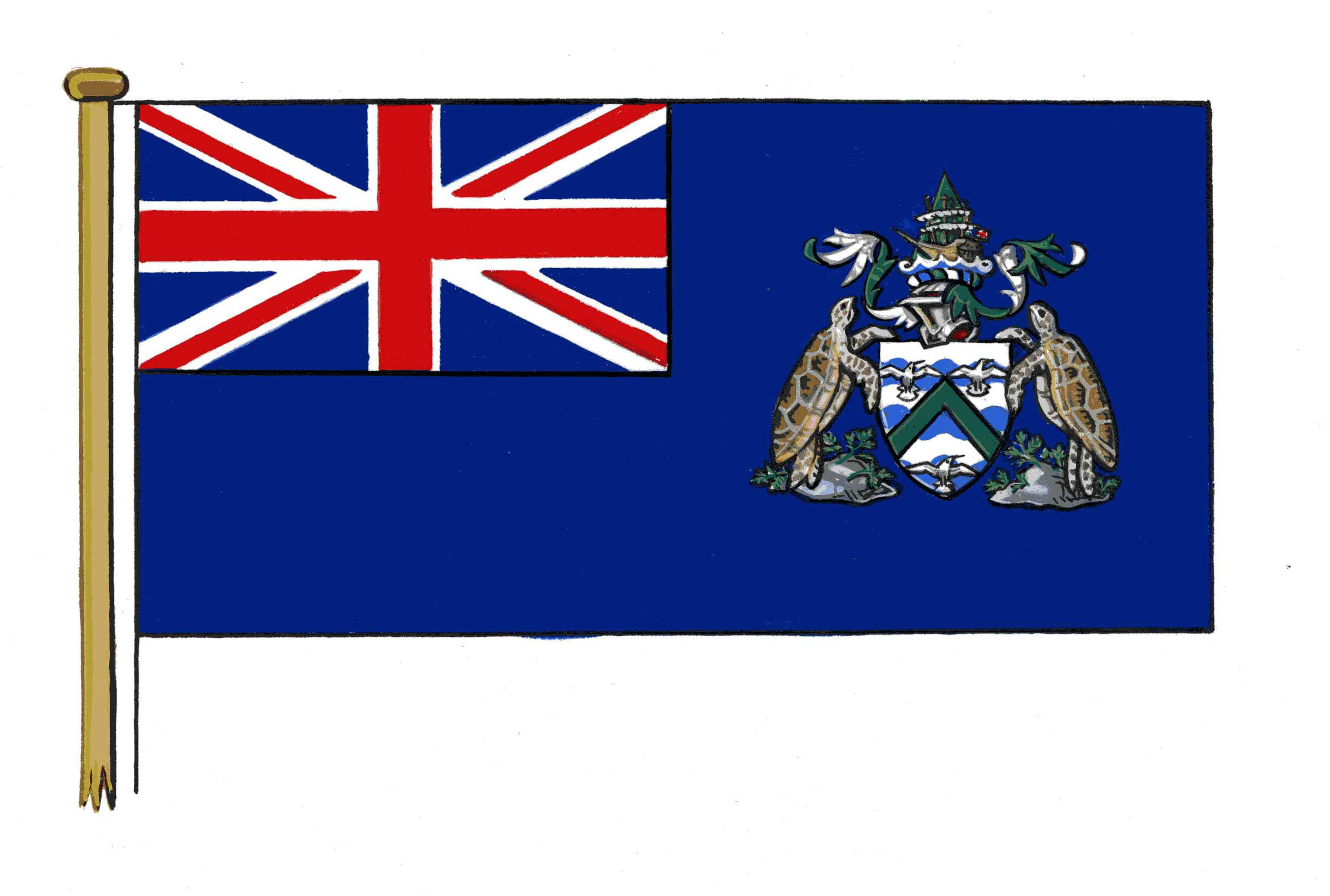 Ascension Island Flag cropped