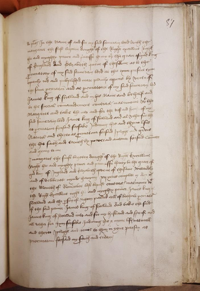Marriage of Margaret Tudor 1502 2M1.87