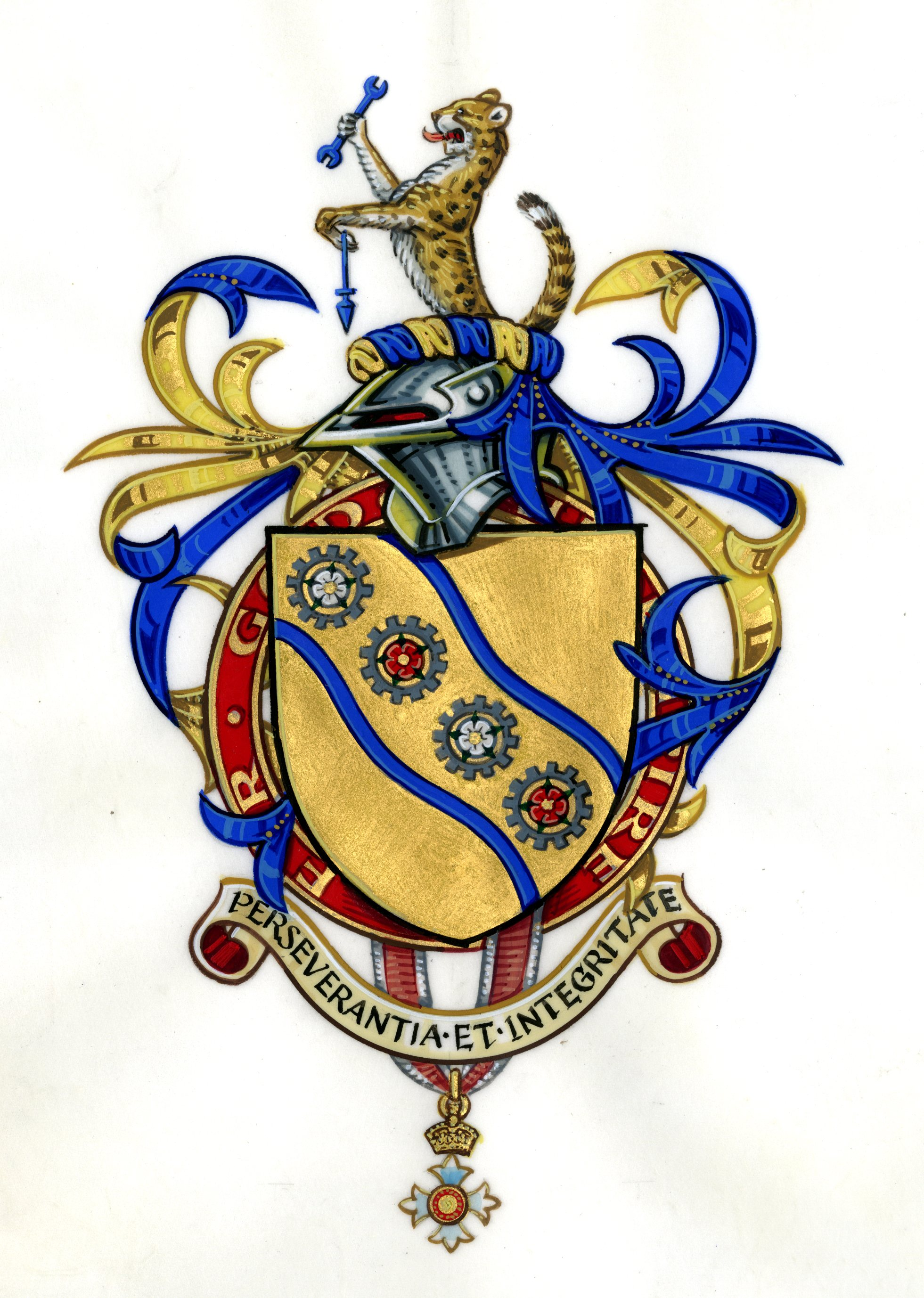 Arms of Alan Pedder