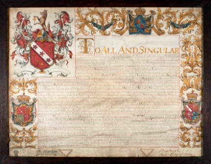 Grant of Arms M  R Howard 1714 compressed