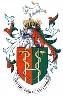 The Arms and Crest of Dr Peter Tooley