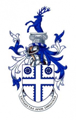 Arms and Crest of John Donald Read Fothergill
