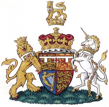 The coat of arms of HRH Prince William of Wales