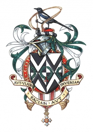 The arms and crest of Victor Wakeling