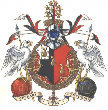The Arms, Crest and Supporters of Sir Michael Perry, G.B.E.
