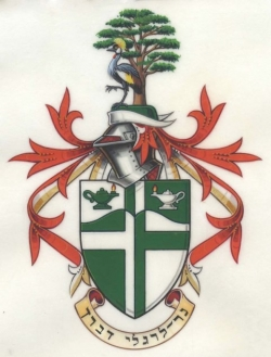 The arms and crest of Edward Fenton