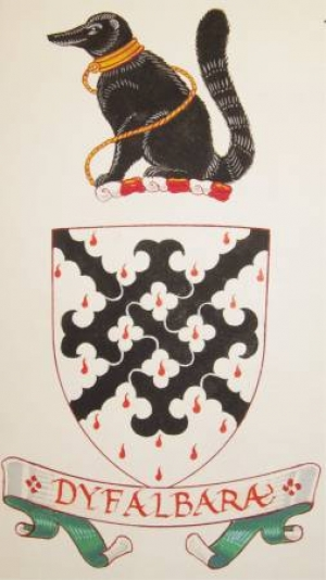 Arms, Crest and Motto of Sir Peter Gwynn-Jones, KCVO