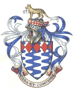 The Arms and Crest of Sir Max Bingham