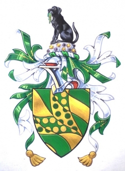 Arms and Crest of Frederick Gavin Hardy