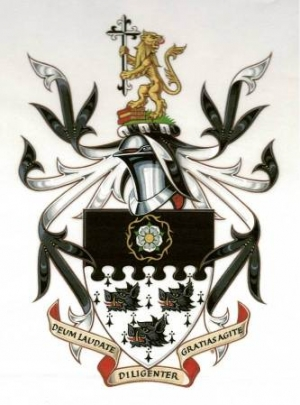 Arms and Crest of Michael John HUXLEY-EVANS